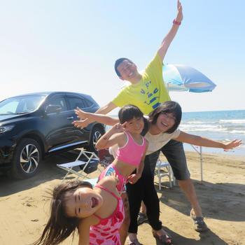 思い出の場所「千里浜なぎさドライブウェイ」へ、家族でGO! 掛川市 T.W 様